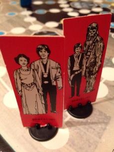 Leia & Luke och Han och Chewie