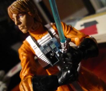Luke med ljussabel