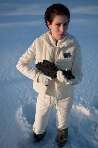 Leia på Hoth Cosplay
