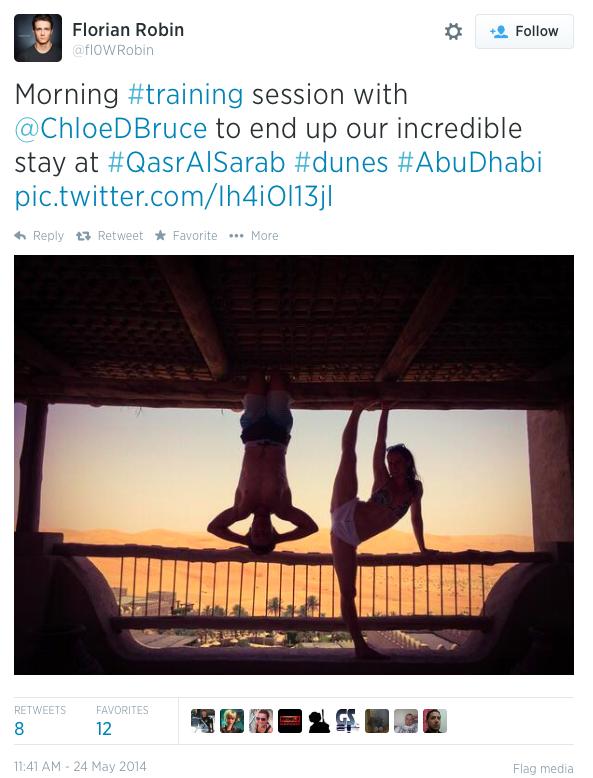 Cloe Bruce & Florian Robin i Abu Dhabi