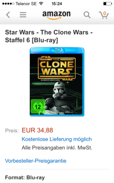 CW S6 DVD/Blu-Ray på Amazon.de