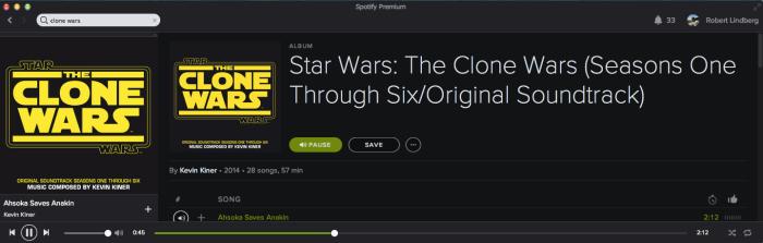 Clone Wars Score - Kevin Kiner - Spotify