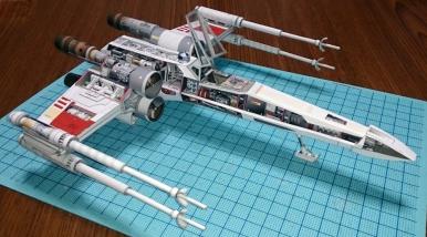 X - Wing Genomskuren Pappersmodell